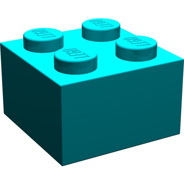lego dark turquoise brick 2 x 2 3003 brick owl lego marketplace. Black Bedroom Furniture Sets. Home Design Ideas