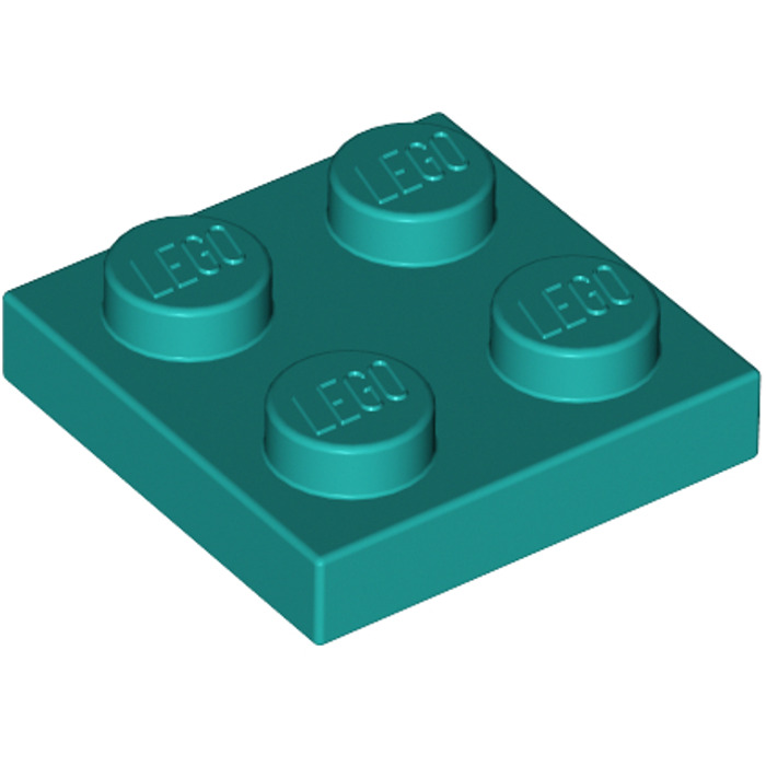 Lego 2x Platte 2x2 Dunkel Türkis Dark Turquoise Plate 3022 94148 Neuware New