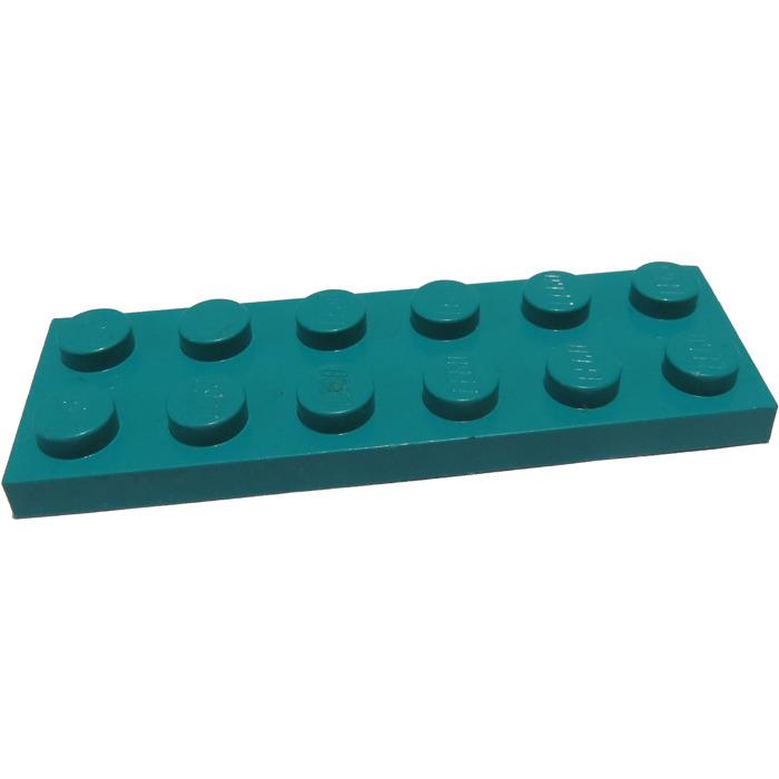 4x flat plate 2x6 6x2 mid blue//medium blue 3795 new Lego