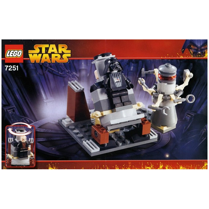 darth vader transformation lego instructions