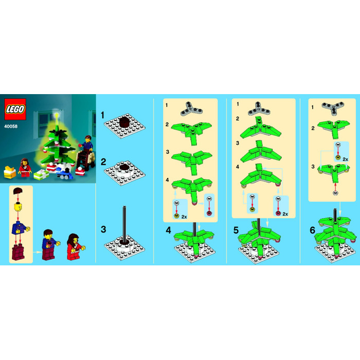 Lego Decorating The Tree Set 40058 Instructions Brick Owl Lego