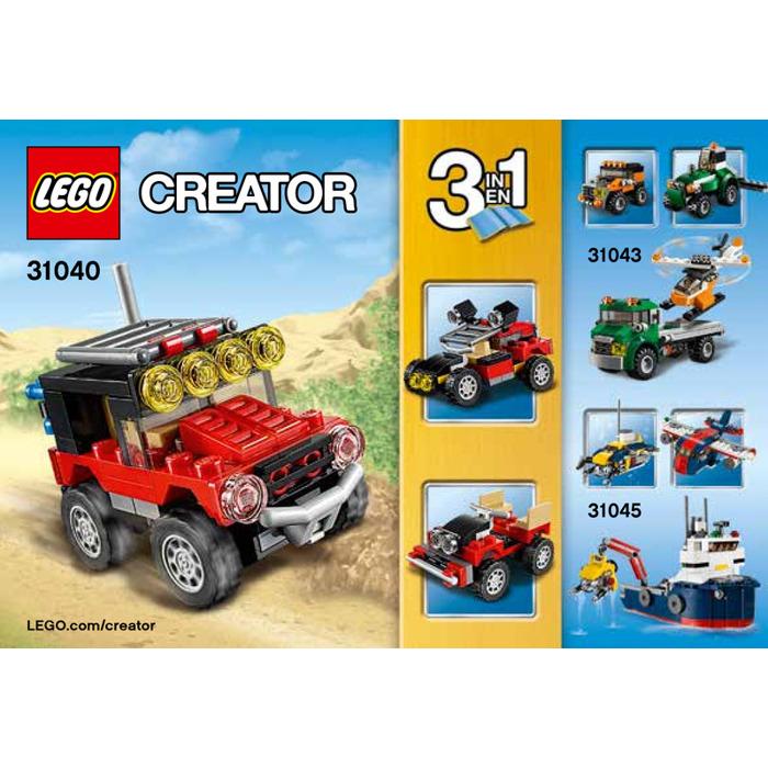 Lego Desert Racers Set 31040 Instructions Brick Owl Lego Marketplace