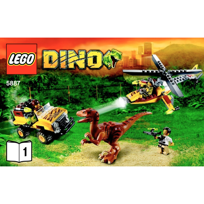 lego dino defense hq instructions