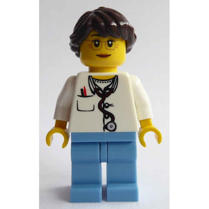 Redish Brown LEGO Minifig Headgear Girls Hair w// Ponytail