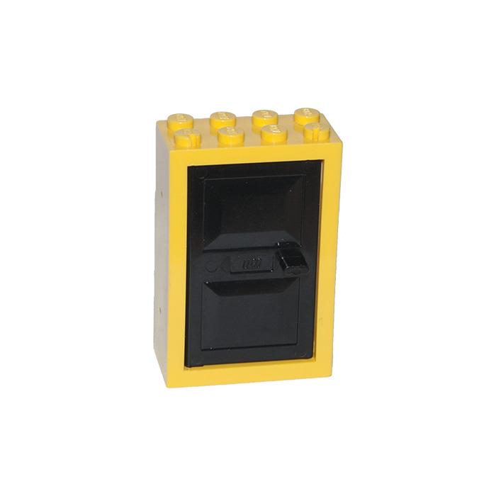 LEGO Door 2 x 4 x 5 Frame with Black Door (4130) | Brick Owl - LEGO ...