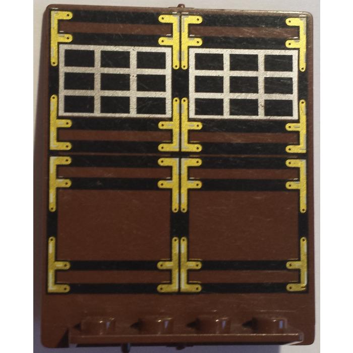 GMT30 30101 30102 Dark Grey Lego Revolving Door Hogwarts Platform Pattern