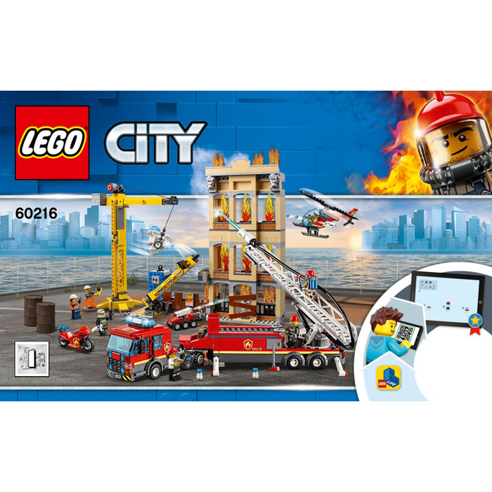 LEGO Downtown Fire Brigade Set 60216 Instructions