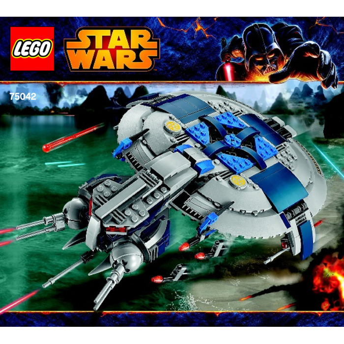 Lego droid gunship set 75042 instructions brick owl - Lego star wars vaisseau droide ...