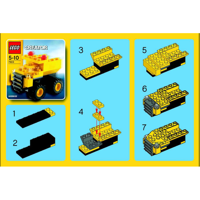 Lego Dump Truck Set 7603 Instructions Brick Owl Lego Marketplace
