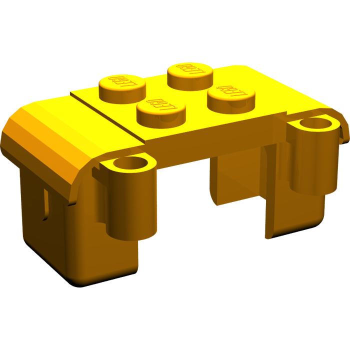 Lego 1x Fabuland Container Side Bags Saddlebags 749 Earth Orange