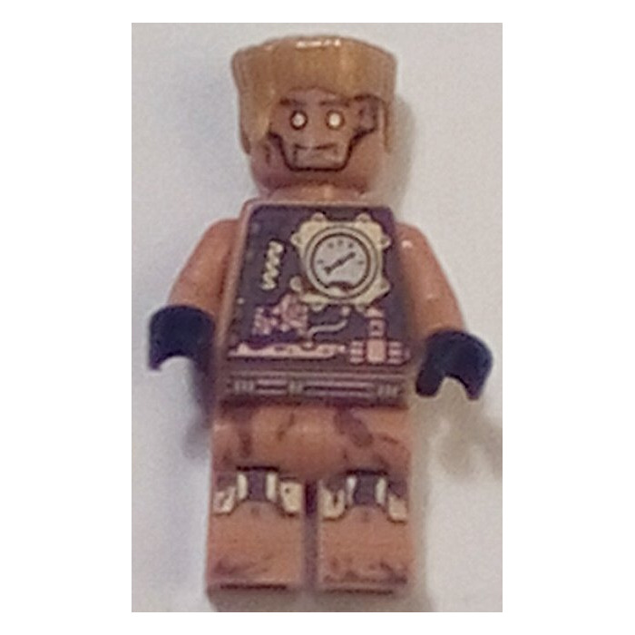 Lego 1 x Pearl Gold Hair Flat Top for Minifigure