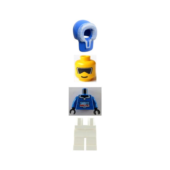 LEGO Blue Arctic Minifigure with Furry Hood
