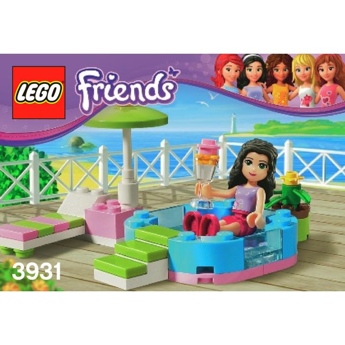 lego friends pool instructions