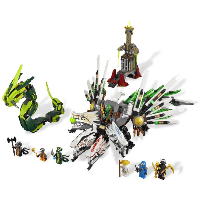 Lego epic dragon battle set 9450 brick owl lego - Lego ninjago dragon a 4 tetes ...