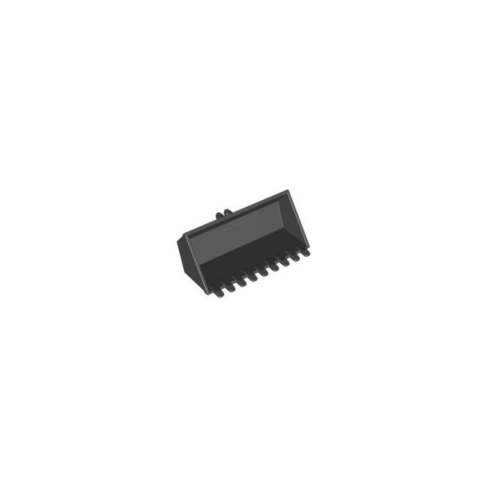Lego 1 x Excavator Shovel 47508 Black 4x8 9 Teeth 7248 4203 7637