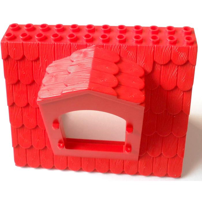 Lego Fabuland Roof Block With Window 6 X 12 X 7 Brick Owl Lego