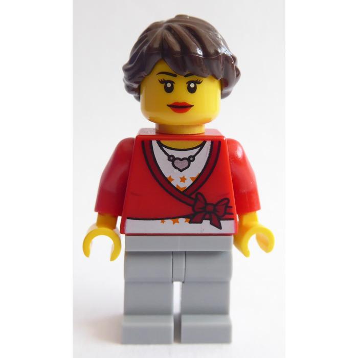 Lego Capelli per Figura Donna Marrone Scuro Copricapo Brown 88286