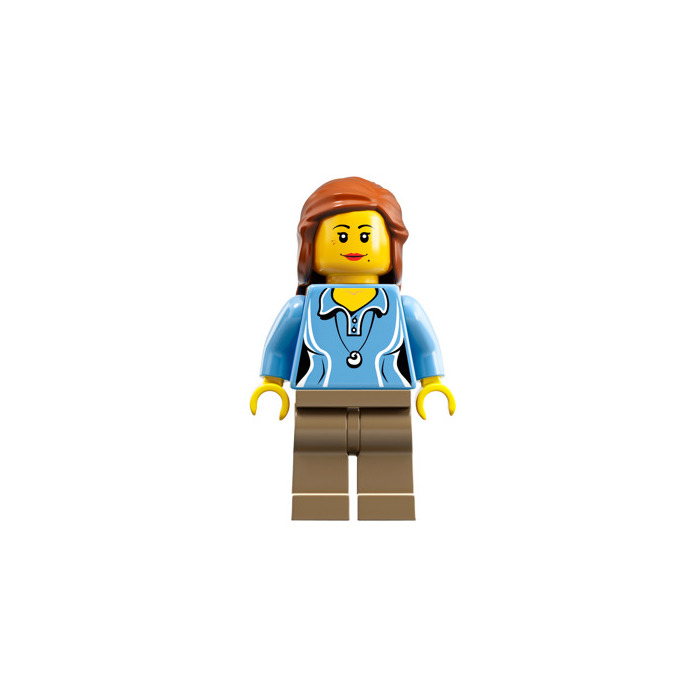 LEGO 59363 Dark Orange Mid-Length HAIR w Braids Tied at Back for Minifigure