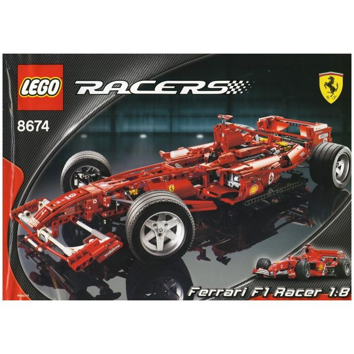 lego ferrari f1 racer 1 8 set 8674 brick owl lego. Black Bedroom Furniture Sets. Home Design Ideas