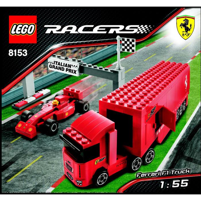 lego ferrari f1 truck set 8153 instructions brick owl. Black Bedroom Furniture Sets. Home Design Ideas