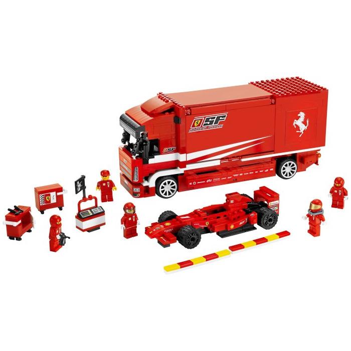 lego ferrari truck set 8185 brick owl lego marketplace. Black Bedroom Furniture Sets. Home Design Ideas