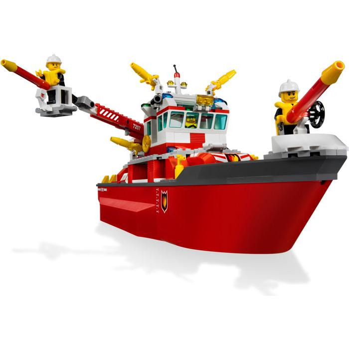 lego city fire boat instructions