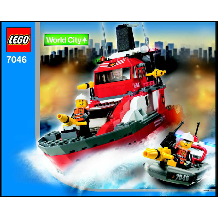 Lego fire command craft set 7046 instructions brick owl for Lego world craft