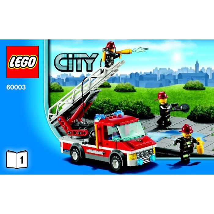 """LEGO 60003 CITY /""""FIRE EMERGENCY/"""" STICKER SHEET"""