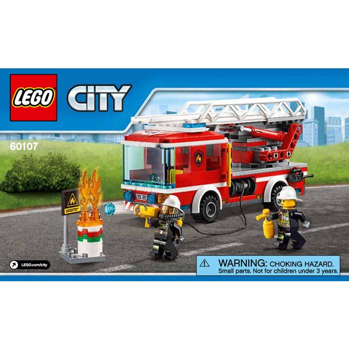 Lego Fire Ladder Truck Set 60107 Instructions Brick Owl Lego
