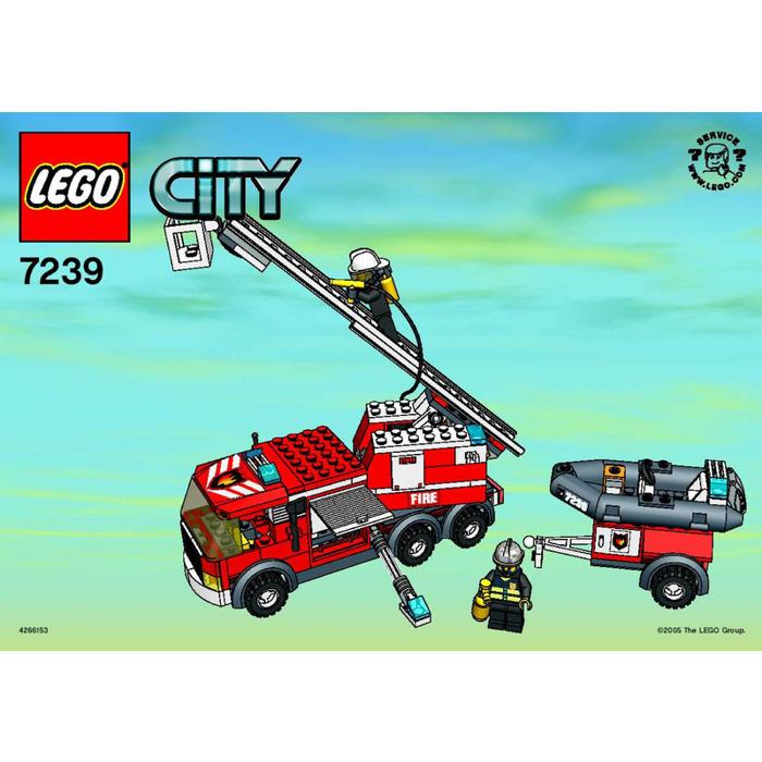 lego city fire truck instructions