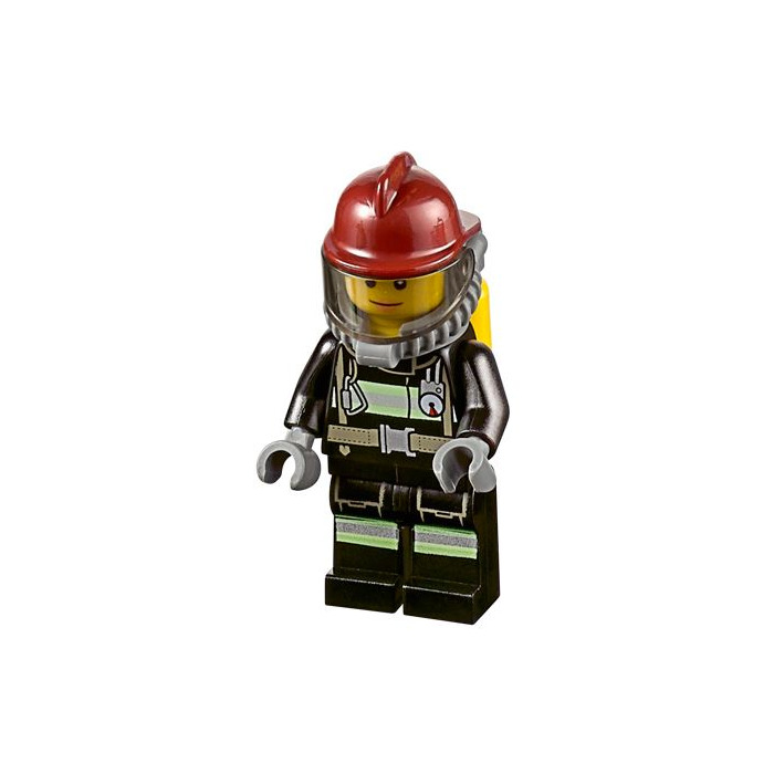 LEGO New City Dark Red Fireman Fire Helmet Headgear Minifigure Accessory