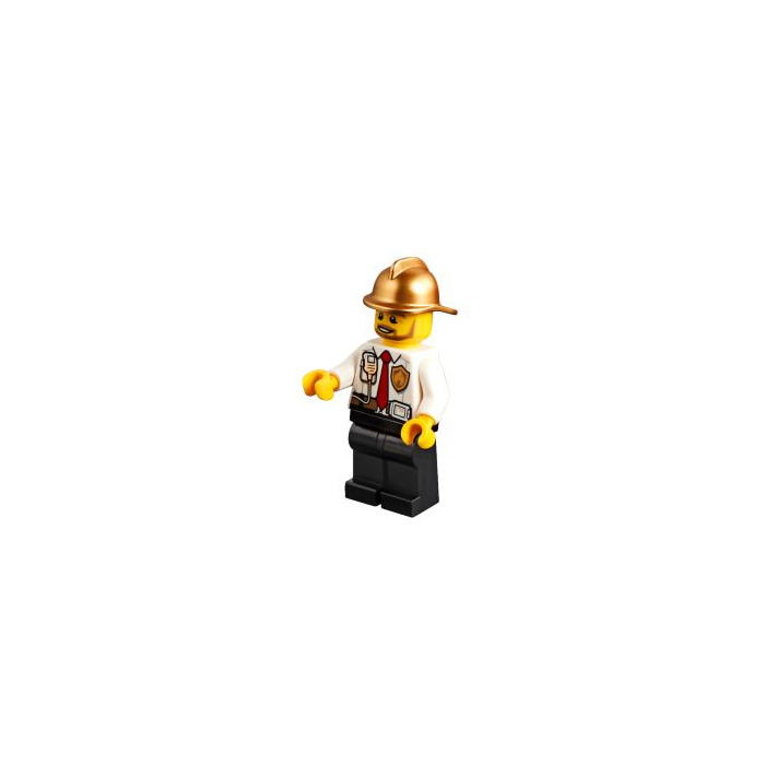 LEGO Metallic Gold Fireman Minifig Helmet