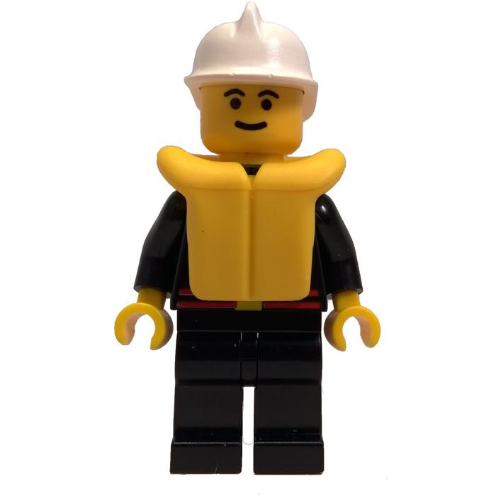 LEGO Lot of 2 White Fireman City Minifigure Helmet Pieces