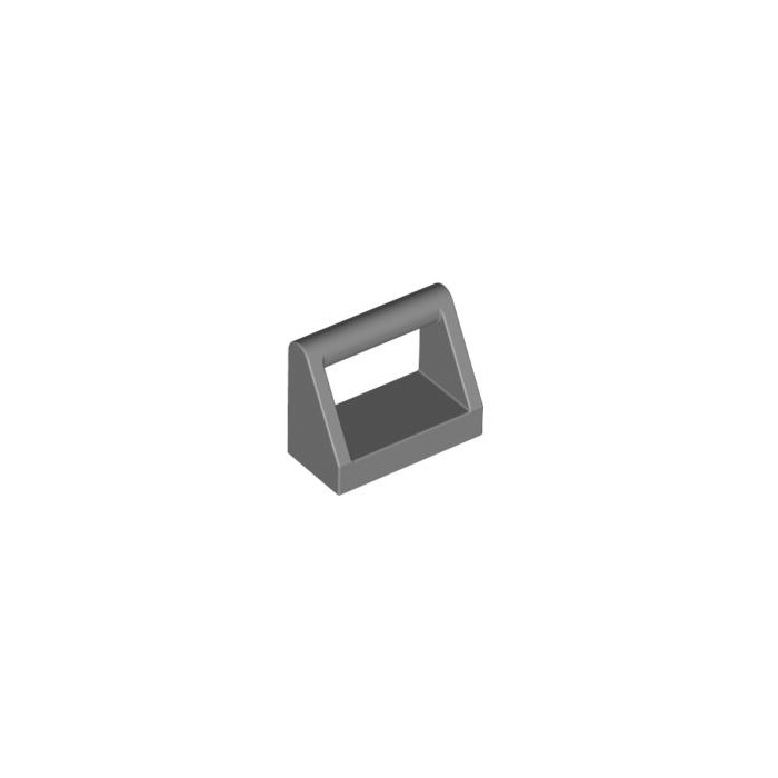 LEGO 1 x 2 DARK GREY MODIFIED TILE WITH HANDLE  PART 2432 x 6