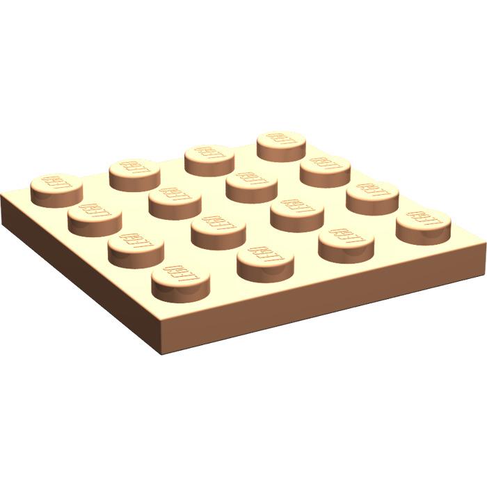 4 x LEGO Plaque Blanche White Plate 4x4 Ref 3031 Set 260 6441 7691 45570 269 623