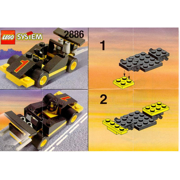 Lego Formula 1 Racing Car Set 2886 Instructions Brick Owl Lego
