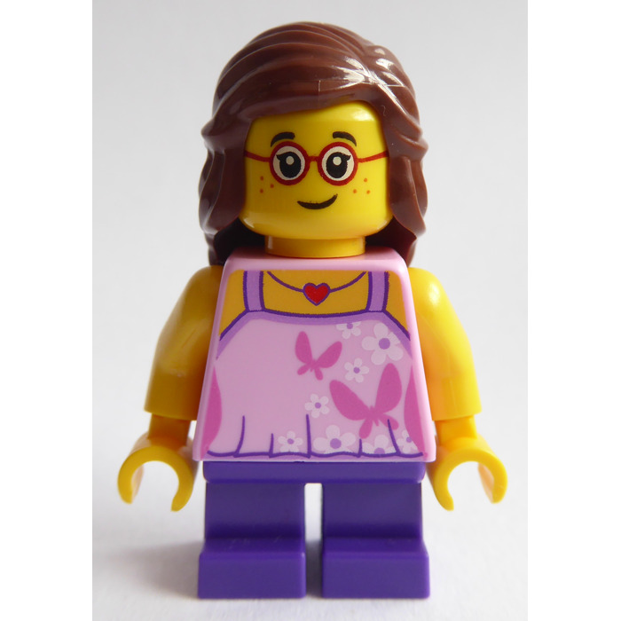 LEGO New City Creator Female Minifigure Pink Butterfly Torso Sunglasses