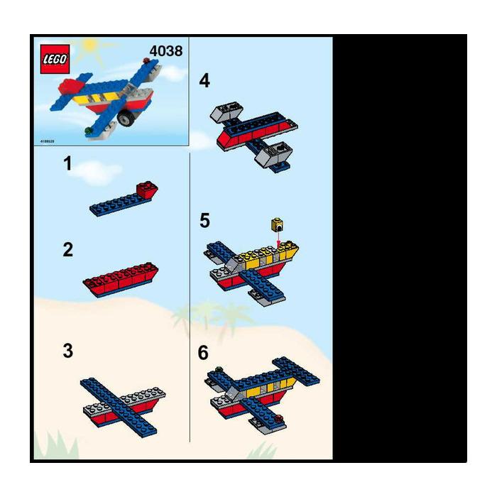 Как можно сделать из лего самолёт