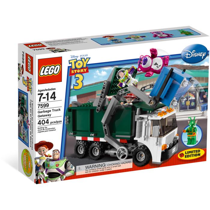 Lego Toy 3 : Lego garbage truck getaway set brick owl
