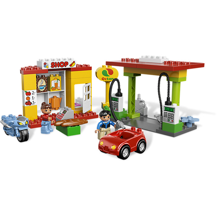 lego shell gas station instructions