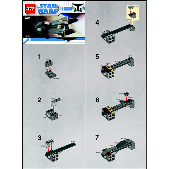 Lego General Grievous Starfighter Set 8033 Instructions Brick Owl
