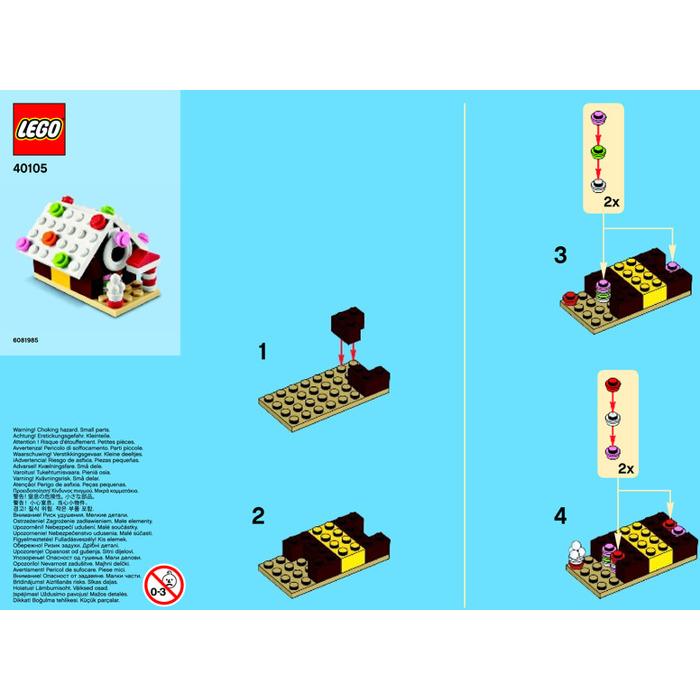 Lego Gingerbread House Set 40105 Instructions Brick Owl Lego