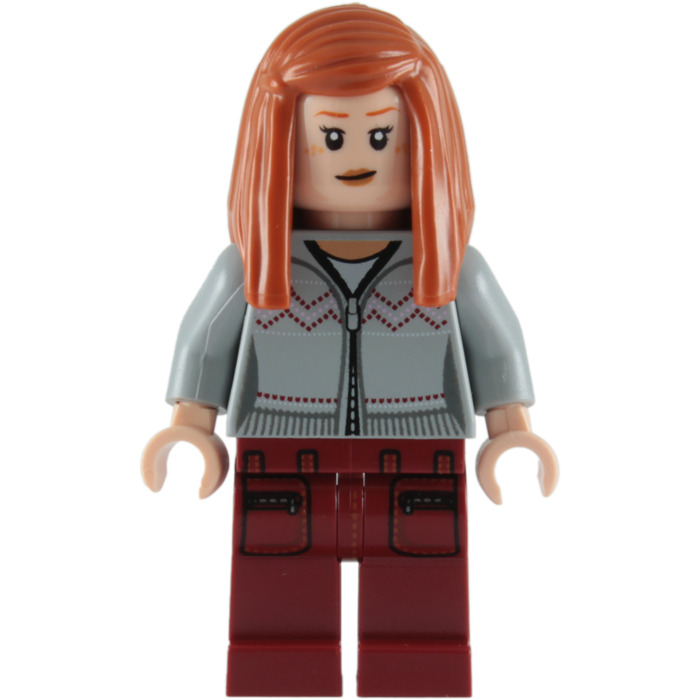 LEGO Minifigure Hair DARK ORANGE 92083 Female Girl Long Straight with Side Part