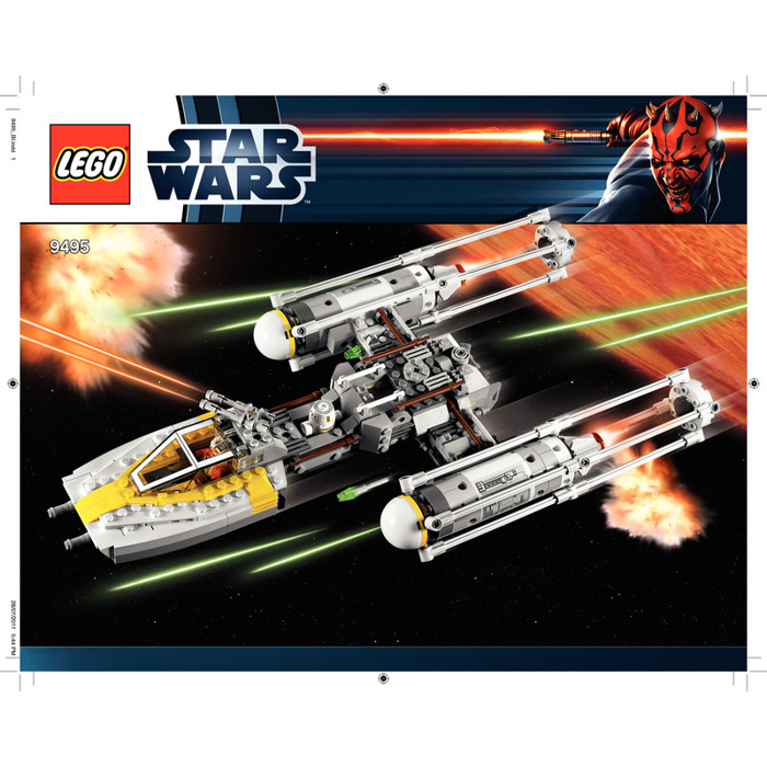 Lego Gold Leaders Y Wing Starfighter Set 9495 Instructions Brick