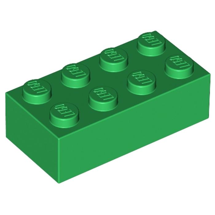 Lego 50x Pierre 1x2 Vert Pierres Vert Pièces Basiques Neuf Vert Brique 3004