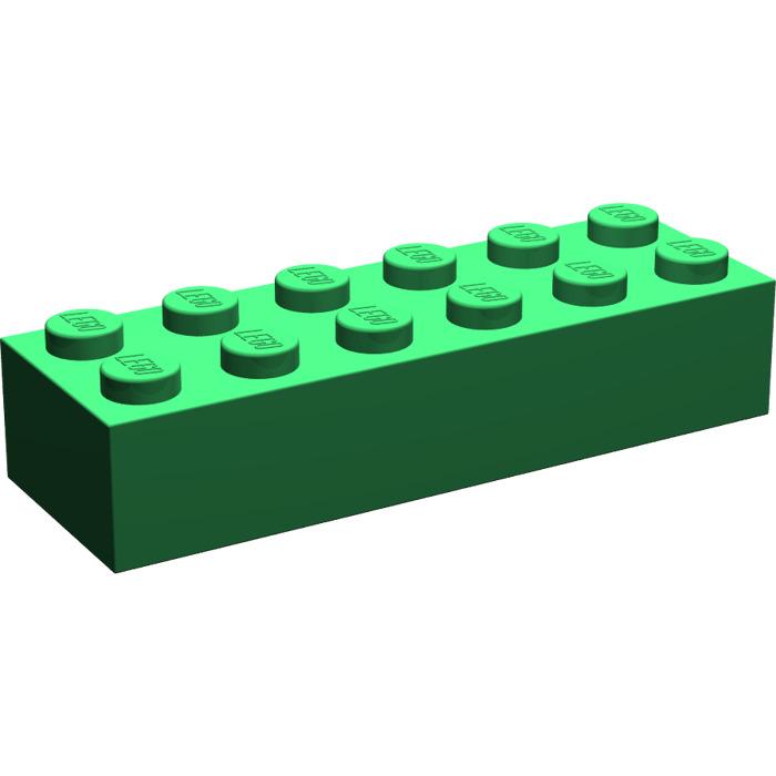 Brick 2x6 New Neuf Blanc Lego 2456-4x Briques White
