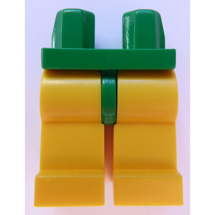 Lego Minifig Legs x 1 Green /& Yellow Pattern for Minifigure