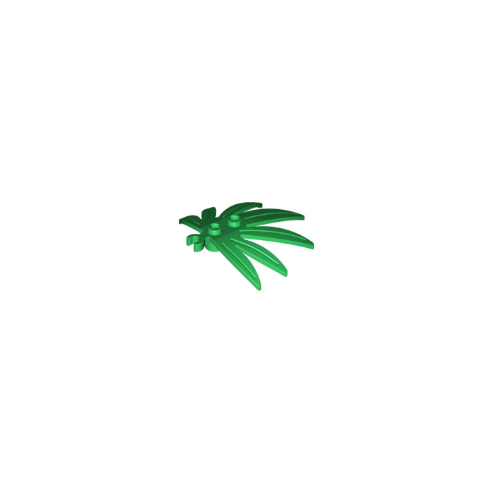 4 Pieces An Order LEGO 10884-4 Large Green Plant Leaves Sword Leaf With Clip