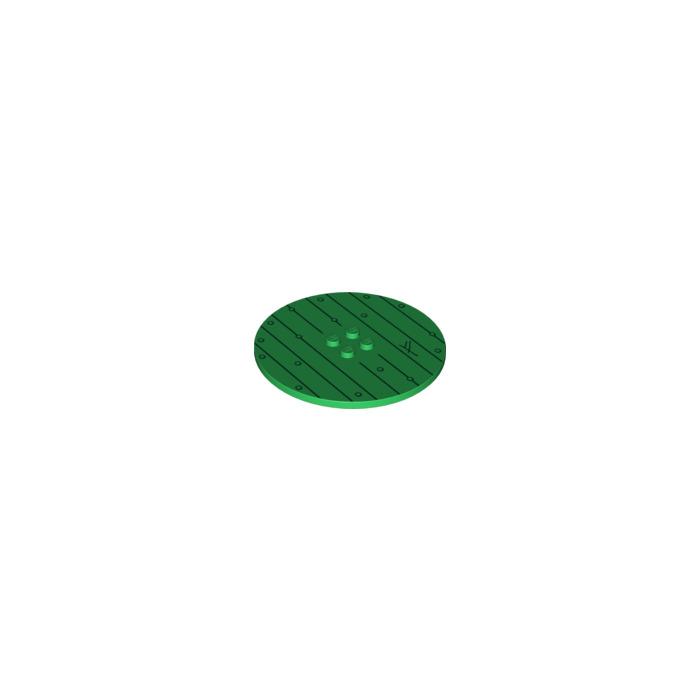 LEGO New Green 8x8 Round Tile Piece