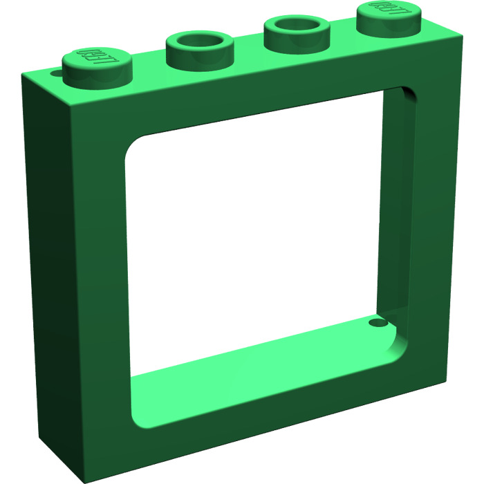 Lego green train window 1 x 4 x 3 new 6556 brick owl for 1 x 3 window